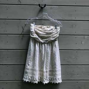 strapless white lace dress (medium) from delia's